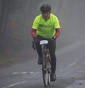 Mike on a bike Good Friday bike ride