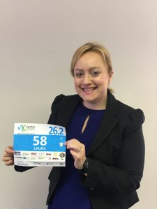 Laura Everitt is set to run her first marathon for local charity Harry's Rainbow