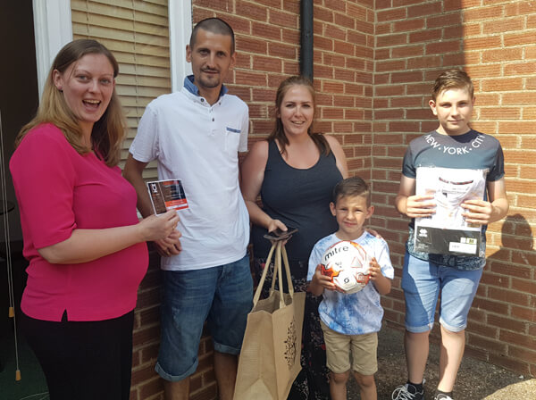 Congratulations to the Hart family our Father's Day competition winners!