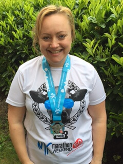 Laura, raises vital funds for charity by  running her first ever marathon