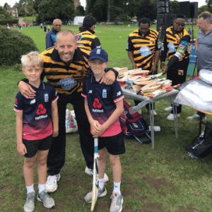 OM&M event sponsors at Lashings World XI