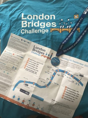 Lawyer completes walk over London's bridges for Diabetes UK