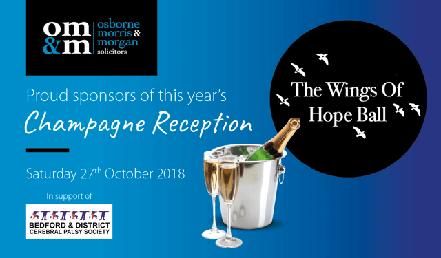 Osborne Morris & Morgan sponsors Bedford & District Cerebral Palsy Society's 'The Wings of Hope Ball'