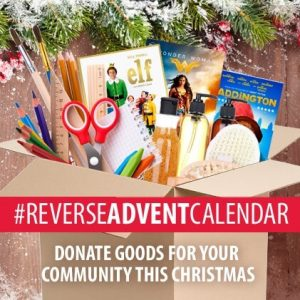 Reverse Advent Calendar 2018- do you have goods you can donate to charity?