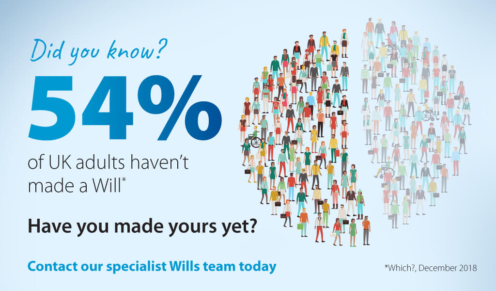 Did you know - 54% of UK adults do not have a Will?