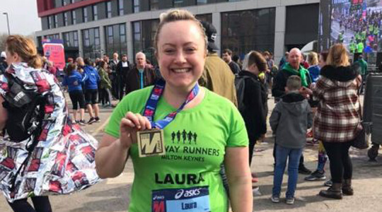 Laura and her medal