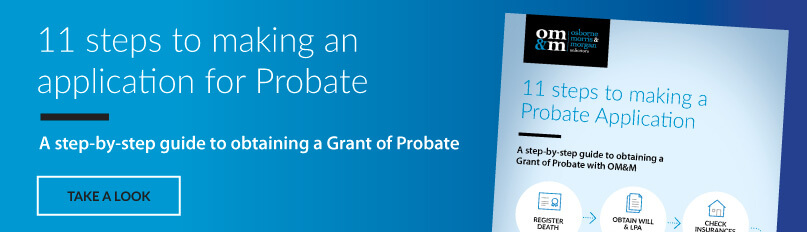 11 steps to making an application for Probate