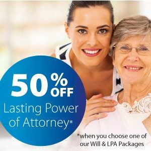 Half price Lasting Power of Attorney