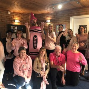 OMM Team Wearing Pink for Wear It Pink