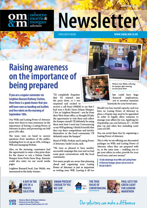 Our Autumn Newsletter 2019