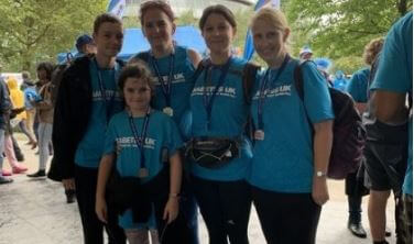 Lawyer takes part in London charity walk for diabetes sufferers