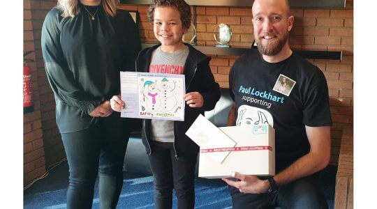 Snowmen duo win Christmas card competition