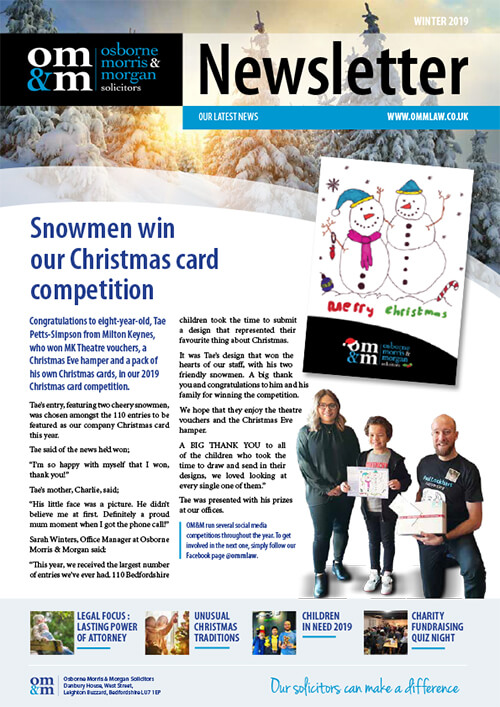 Our Winter Newsletter 2019