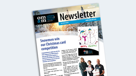 Winter Newsletter OMM Solicitors